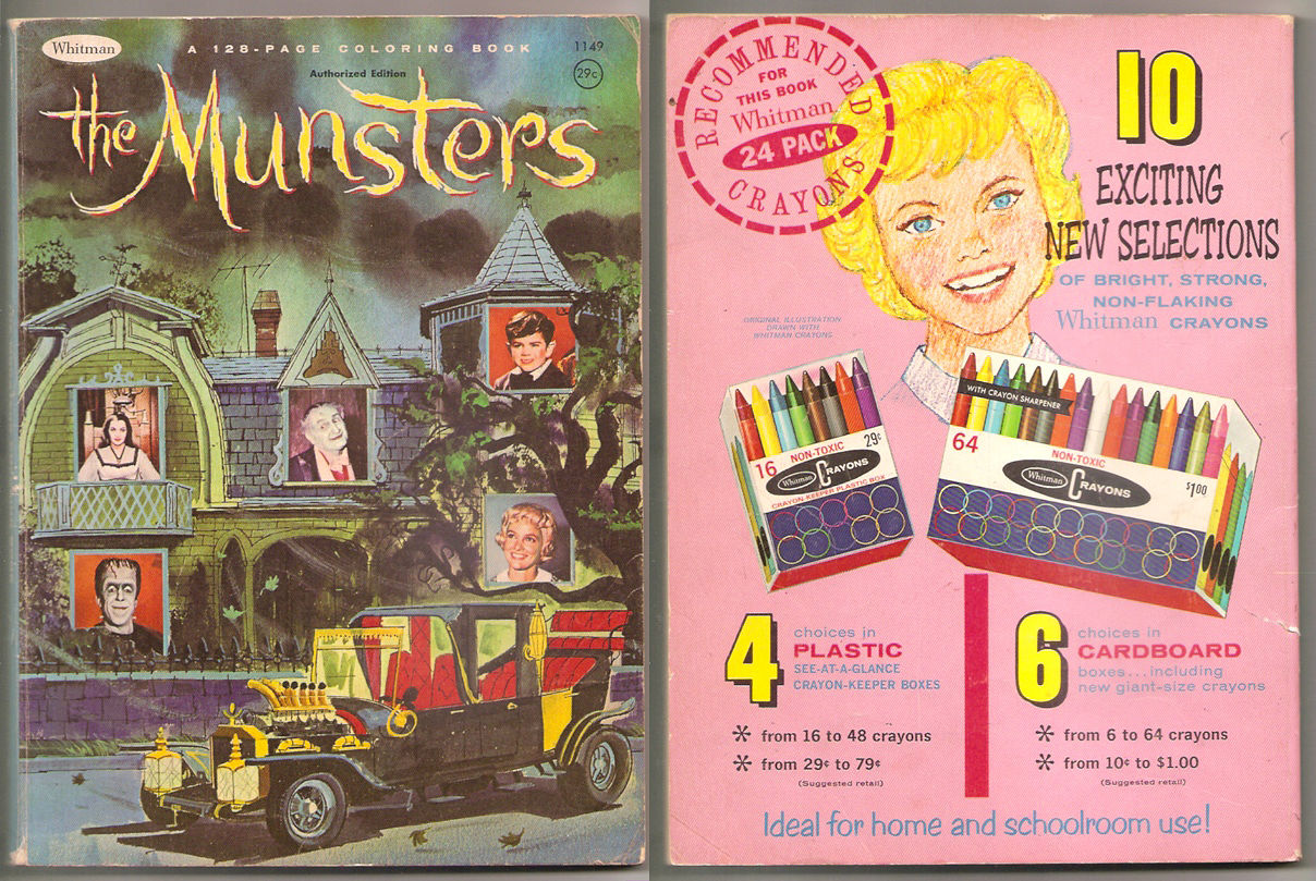 Cool Monster Stuff Seen On eBay: Munsters Whitman Coloring Book ...