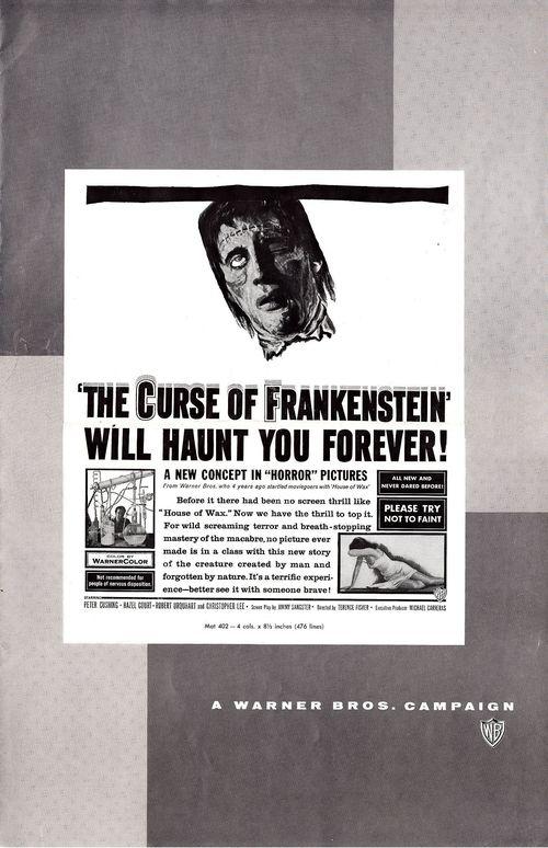 Curse of frankenstein pressbook 1