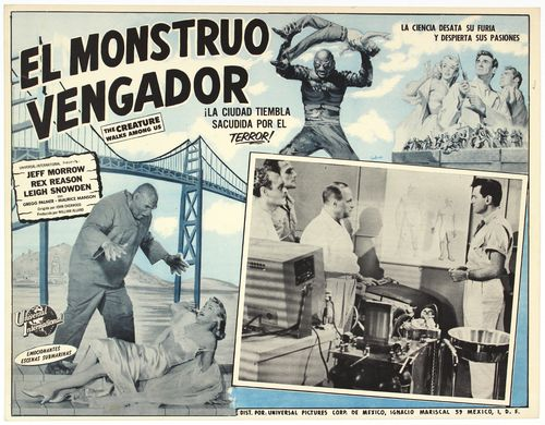 Creature walks among us mexican lobby card