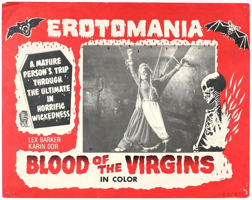 blood of the virgins lobby card