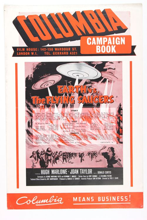 Earth vs flying saucers pressbook 1