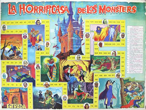spanish Monster game board