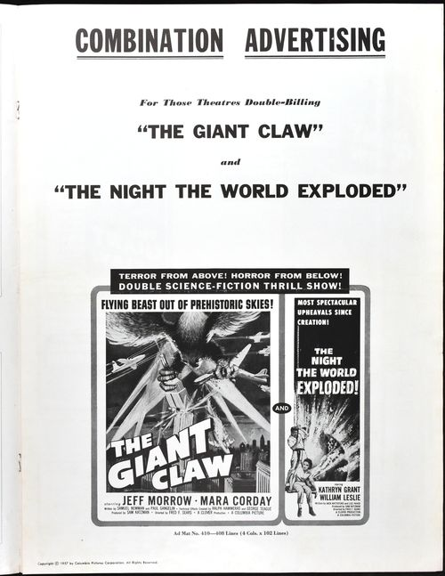 Pressbook night world exploded 1 sh