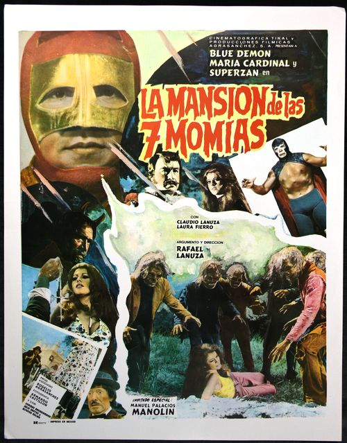 la mansion de las 7 momias lobby card