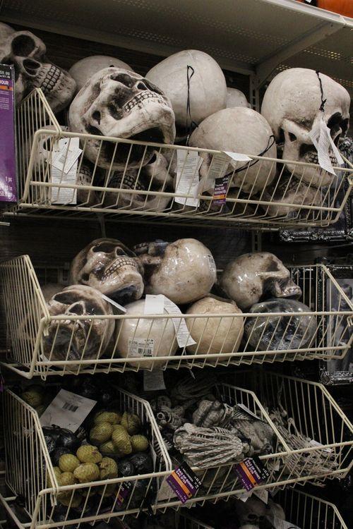 Michaels halloween skulls