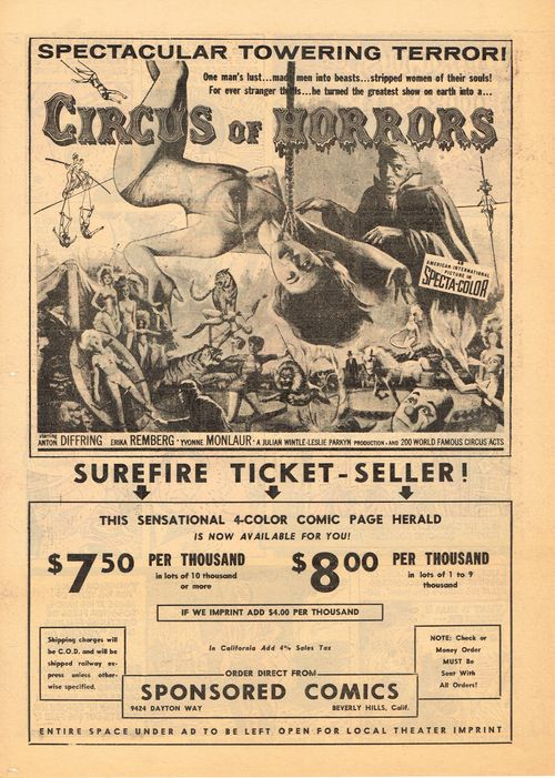 circus of horrors movie herald