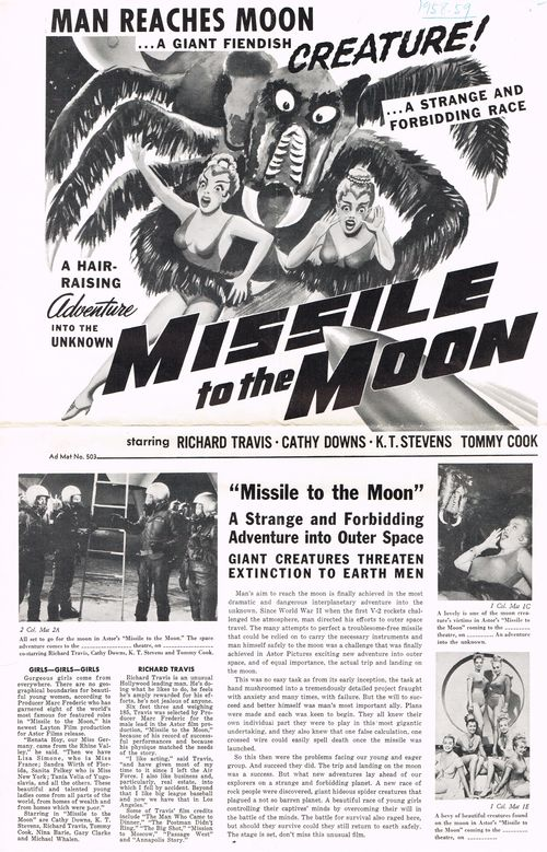 Missile to the moon pressbook