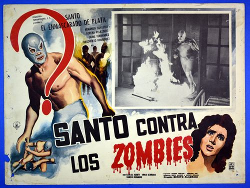 Santo contra zombies mexican lobby card