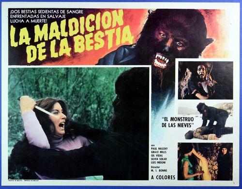 Maldicion bestia mexican lobby card