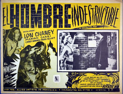 Hombre indestructible mexican lobby card