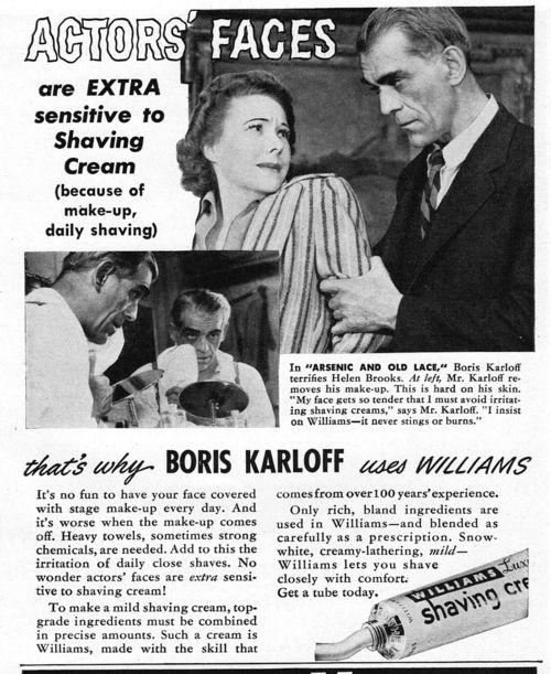 Boris-karloff-shave cream-ad
