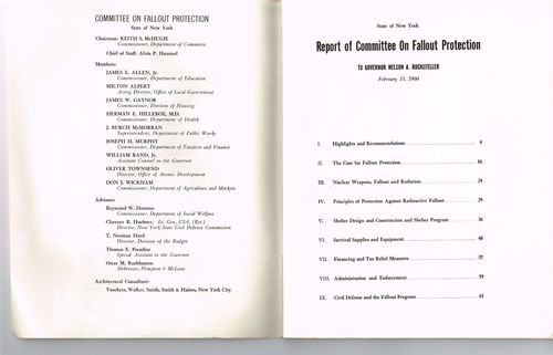 Committee on fallout protection report 1960