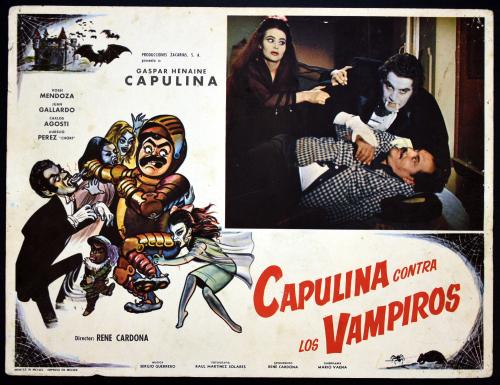 Capulina contra los vampiros lobby card