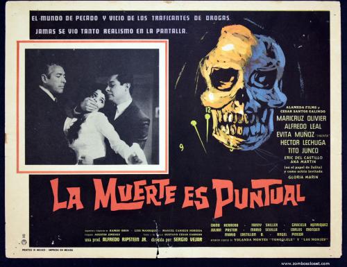 la muerte es puntual mexican lobby card