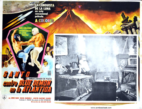 Santo and Blue Demon lobby card