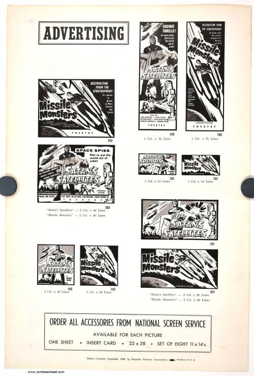 Satan's Satellites and Missle Monsters Pressbook 01