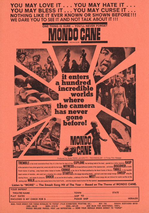 Mondo Cane Movie Herald