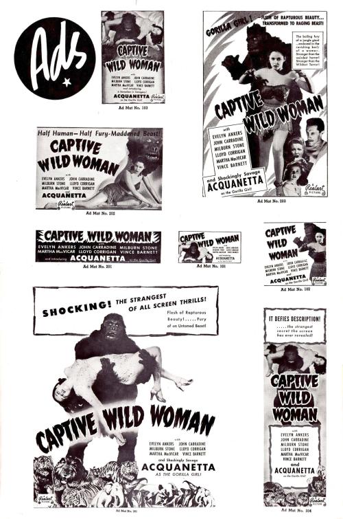 Captive wild woman pressbook 03