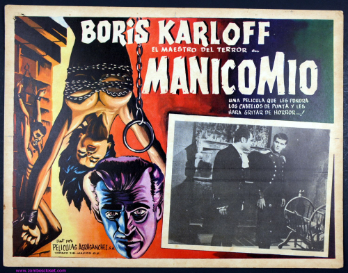 boris karloff mexican lobby card