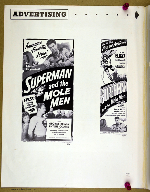 Superman and the Mole Men Pressbook 01