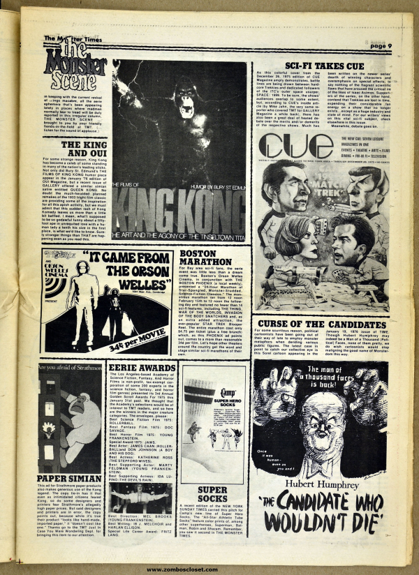 The Monster Times No  47, 1976 (From Zombos' Closet)