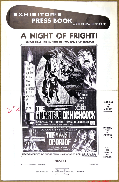 A Night of Fright Pressbook 001