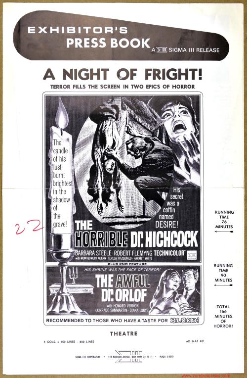 A Night of Fright Pressbook 001