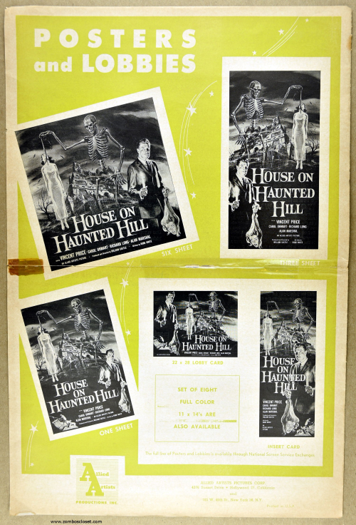 House on Haunted Hill Pressbook 15