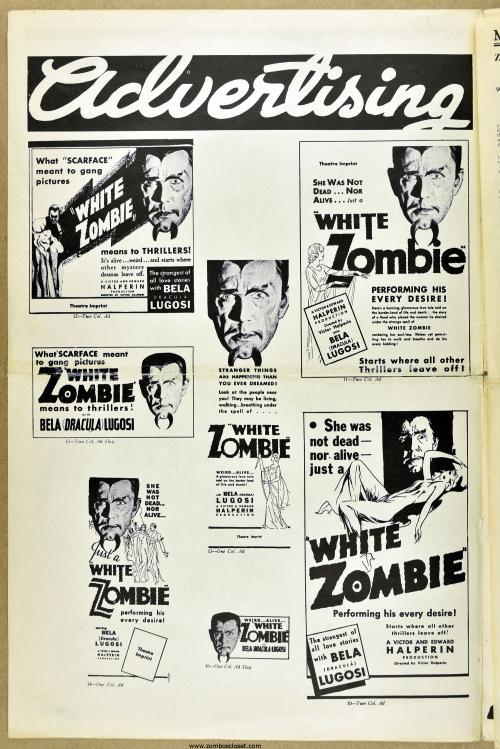 White Zombie pressbook 01