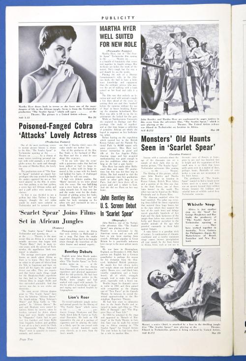 The Scarlet Spear Pressbook 08