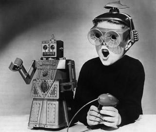 Robot and boy