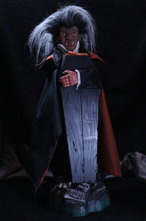 halloween animated dracula with coffin buddy