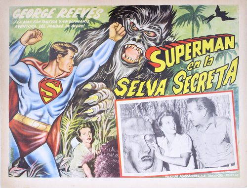 superman en la selva secreta mexican lobby card
