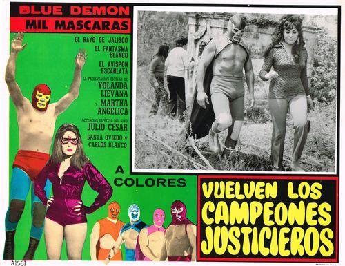 Mexican Lobby Card Vuelven Los Campeones Justicieros