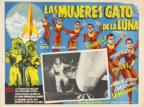 Mexican lobby card Cat-women of the moon