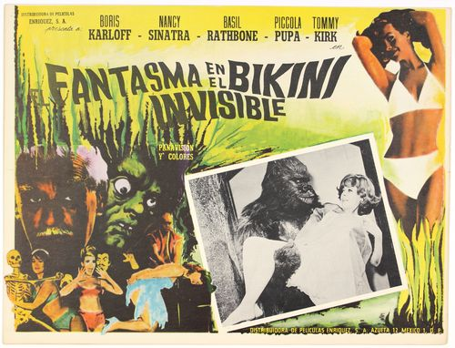 ghost in invisible bikini mexican lobby card
