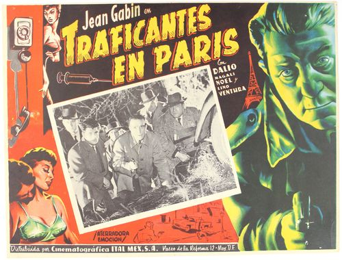 traficantes en paris mexican lobby card