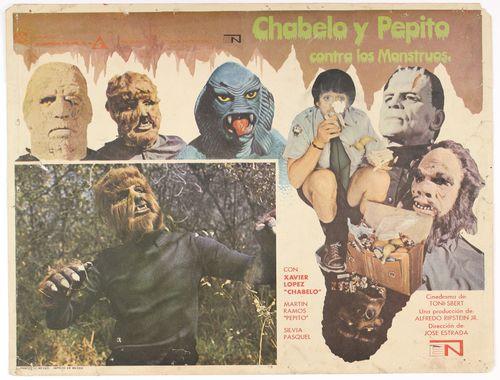 Mexican Lobby Card Chabela y Pepito Contra Los Monstruos