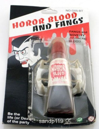 halloween horror blood and fangs