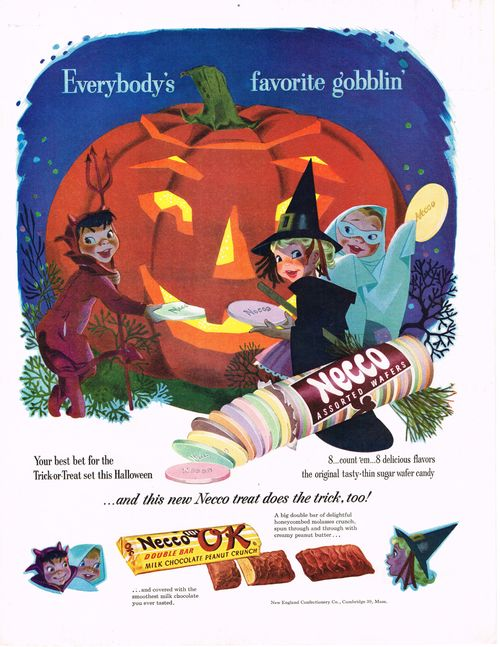Halloween-ad necco candy
