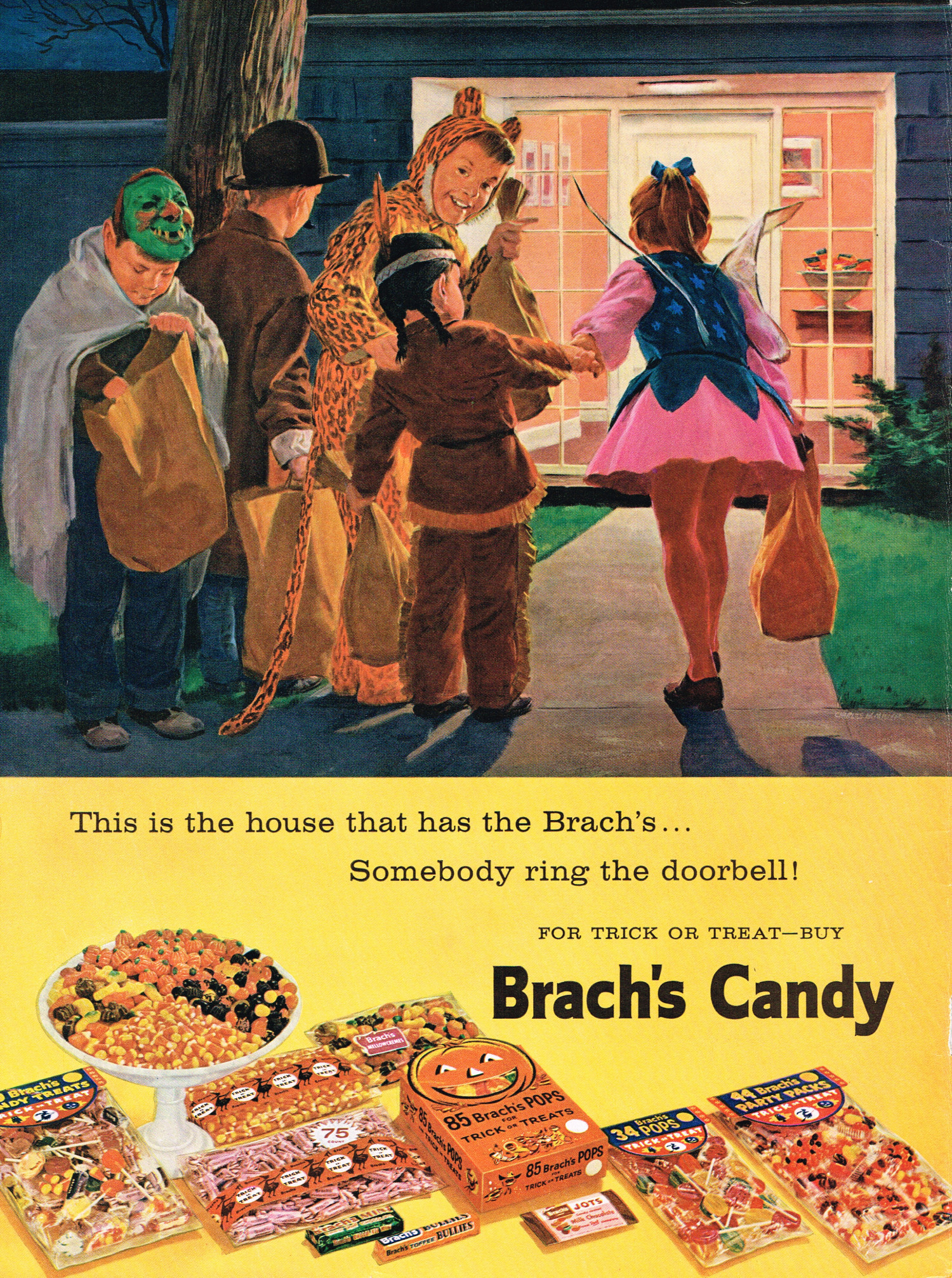 Vintage Halloween Ads.Vintage Halloween Brach S Candy Advertising From Zombos Closet