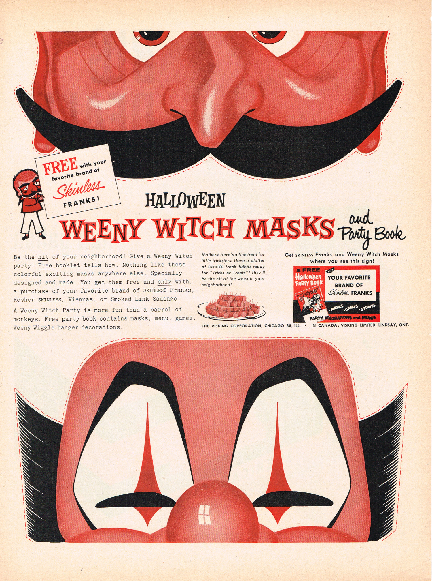 I Dont Often Equate Skinless Hotdogs With Halloween Witch Masks But When Do Want Weeny Just Not The Ones Shown Here Since THEY ARENT