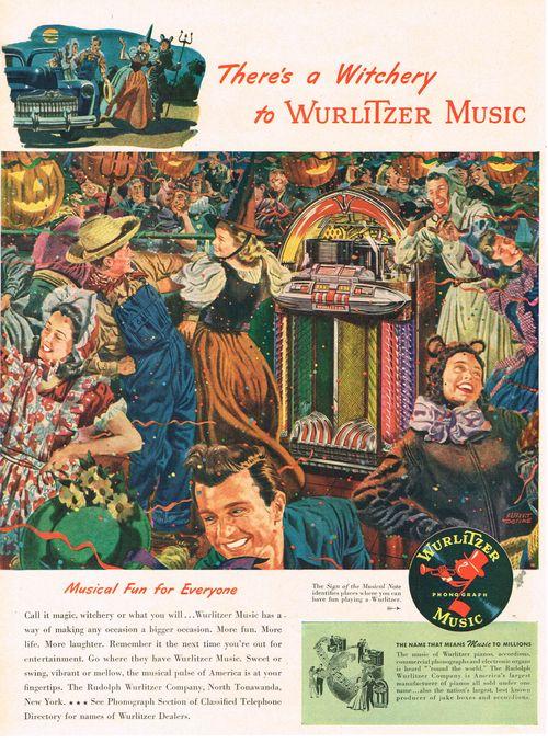 Halloween Ad for Wurlitzer