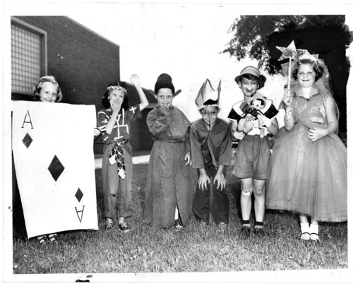 Halloween press photo 1956