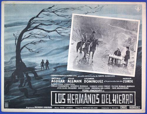 mexican lobby card los hermanos western