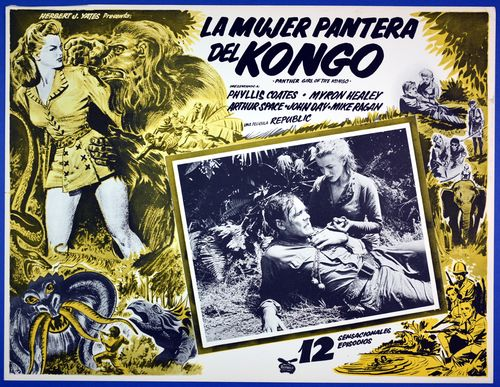 La mujer pantera kongo lobby card