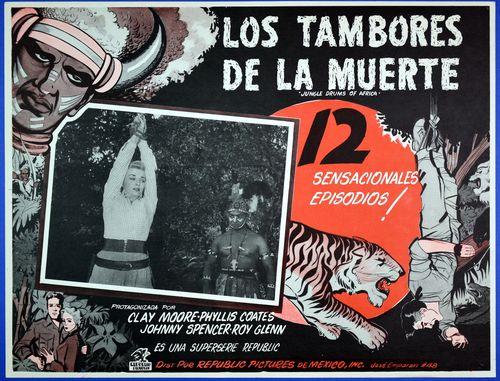 Tambores de la muerte mexican lobby card