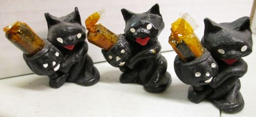 Halloween Candy filled black cat store display cat 6
