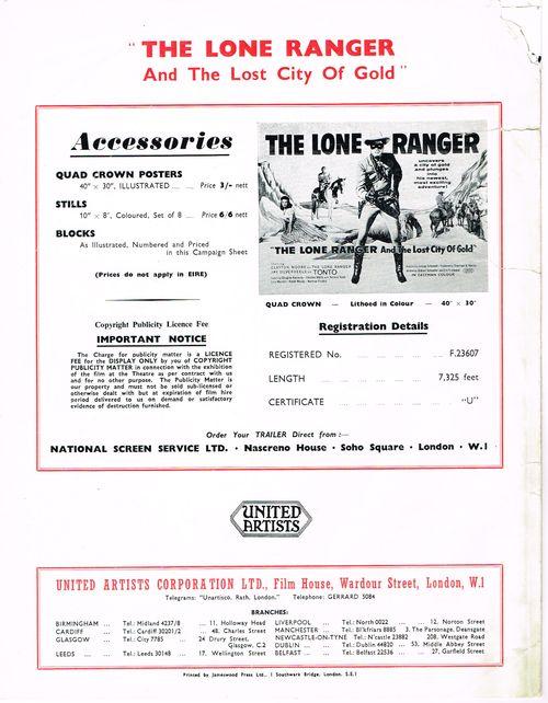 Lone Ranger Pressbook 01