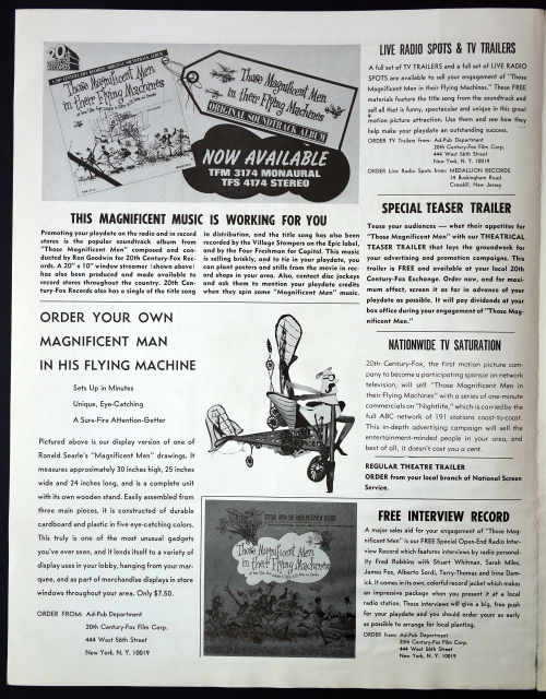 Magnificent Men in Their Flying Machines Pressbook 01
